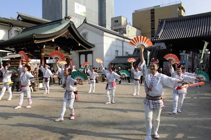 2018年 大阪・天満宮での奉納演舞3