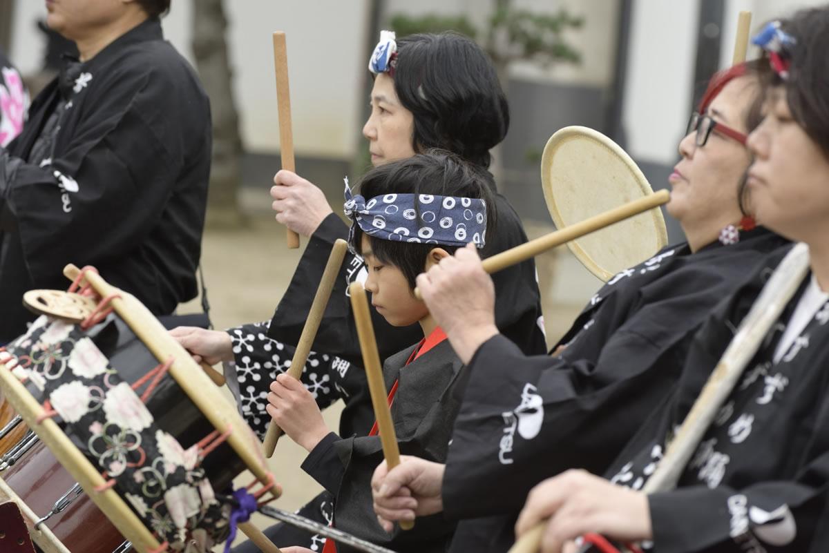 2019大阪天満宮・奉納すずめ踊り お囃子2