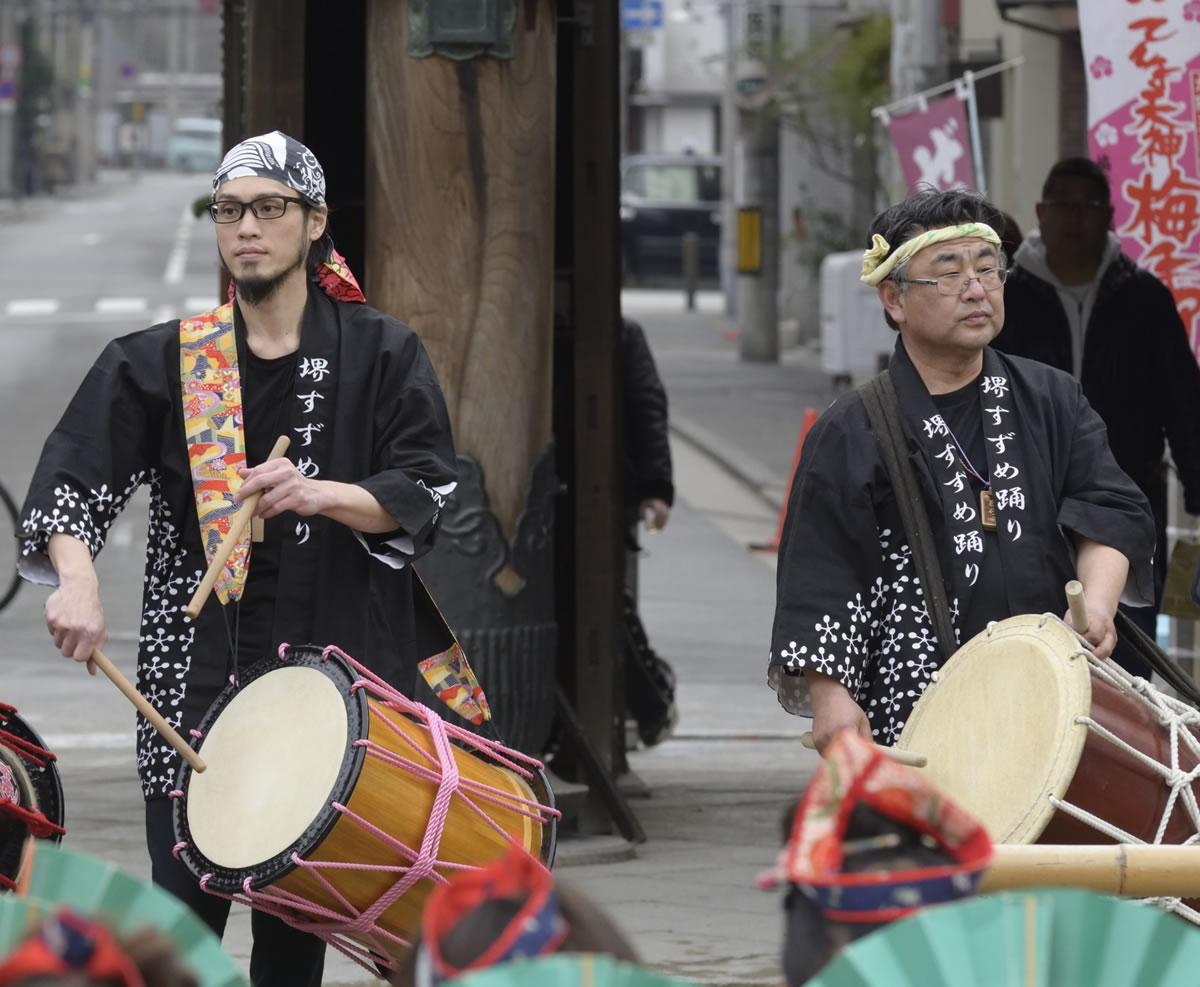 2019大阪天満宮・奉納すずめ踊り お囃子1