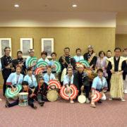 堺フェニックスライオンズクラブ結成20周年記念祝宴 すずめ踊り集合写真