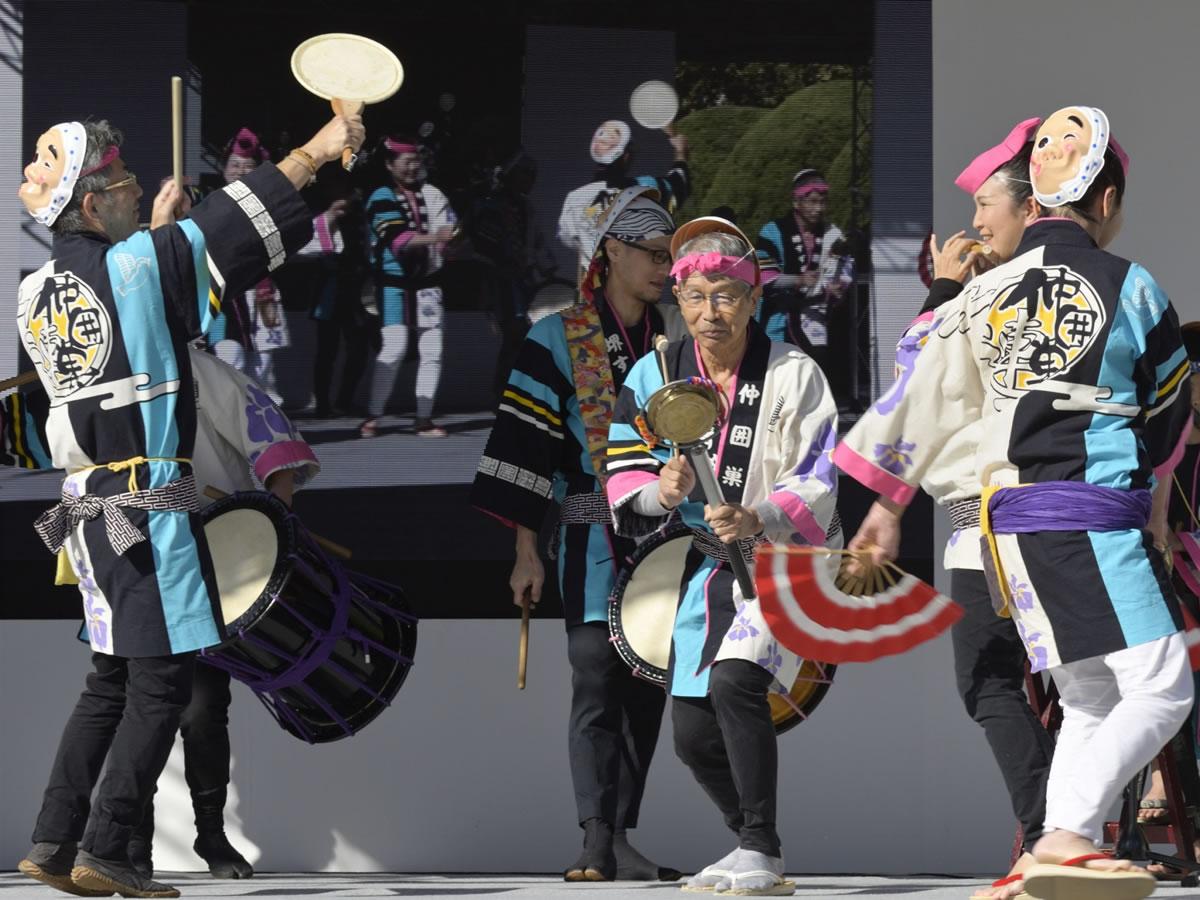 OSEAL2019 ハノーバー庭園にてすずめ踊り演舞11