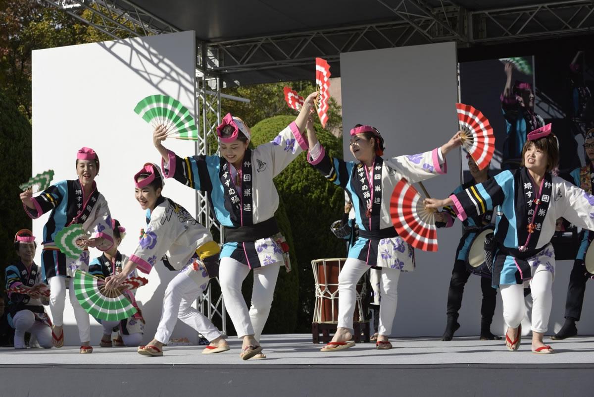 OSEAL2019 ハノーバー庭園にてすずめ踊り演舞15
