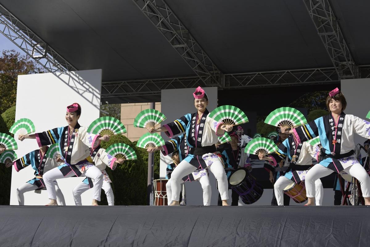 OSEAL2019 ハノーバー庭園にてすずめ踊り演舞16