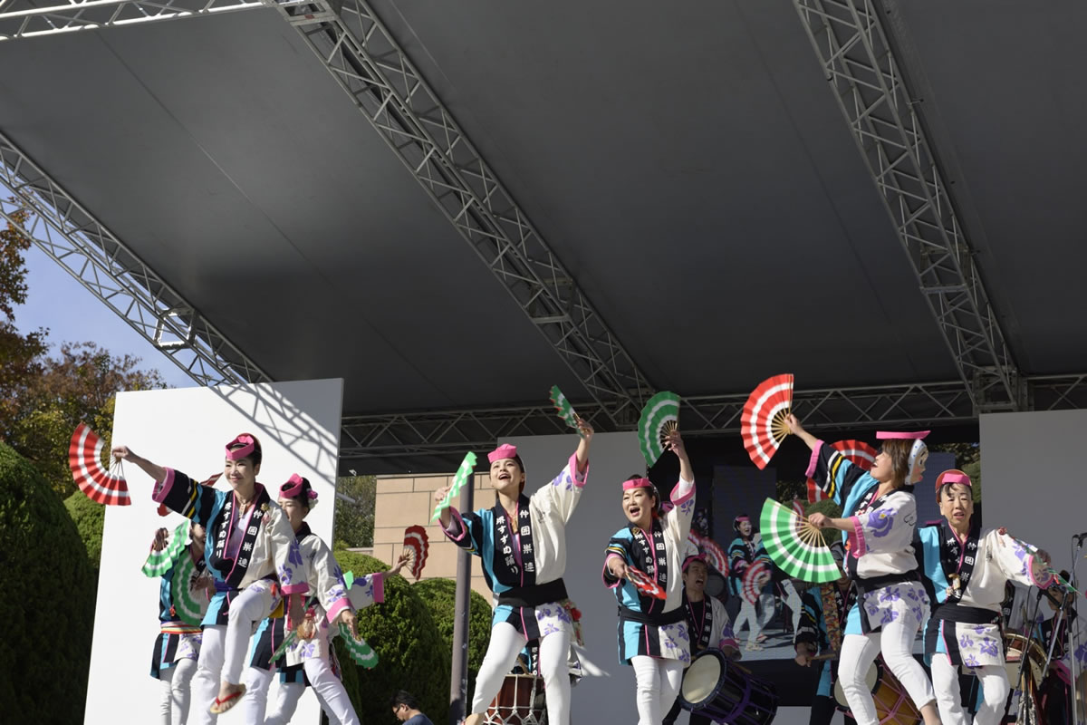 OSEAL2019 ハノーバー庭園にてすずめ踊り演舞18