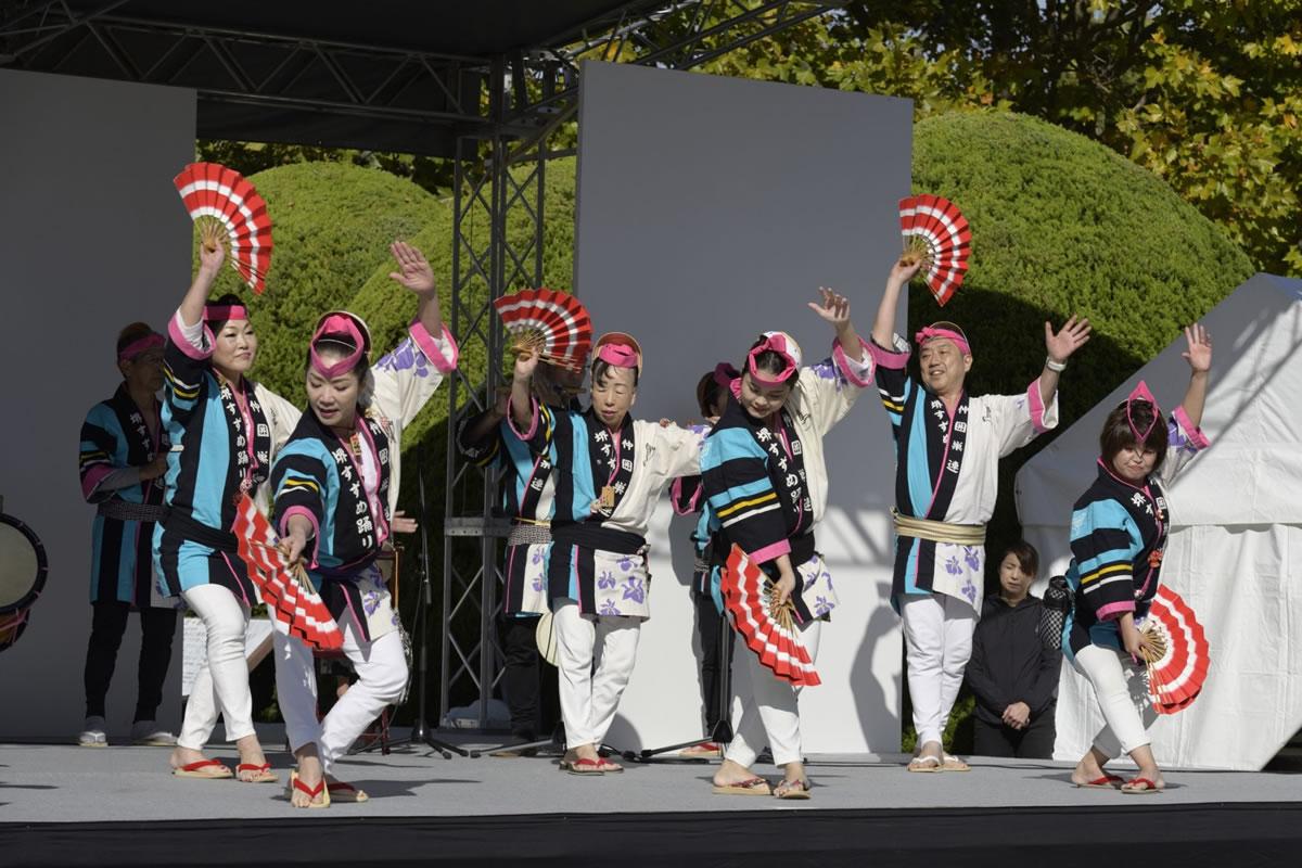 OSEAL2019 ハノーバー庭園にてすずめ踊り演舞20