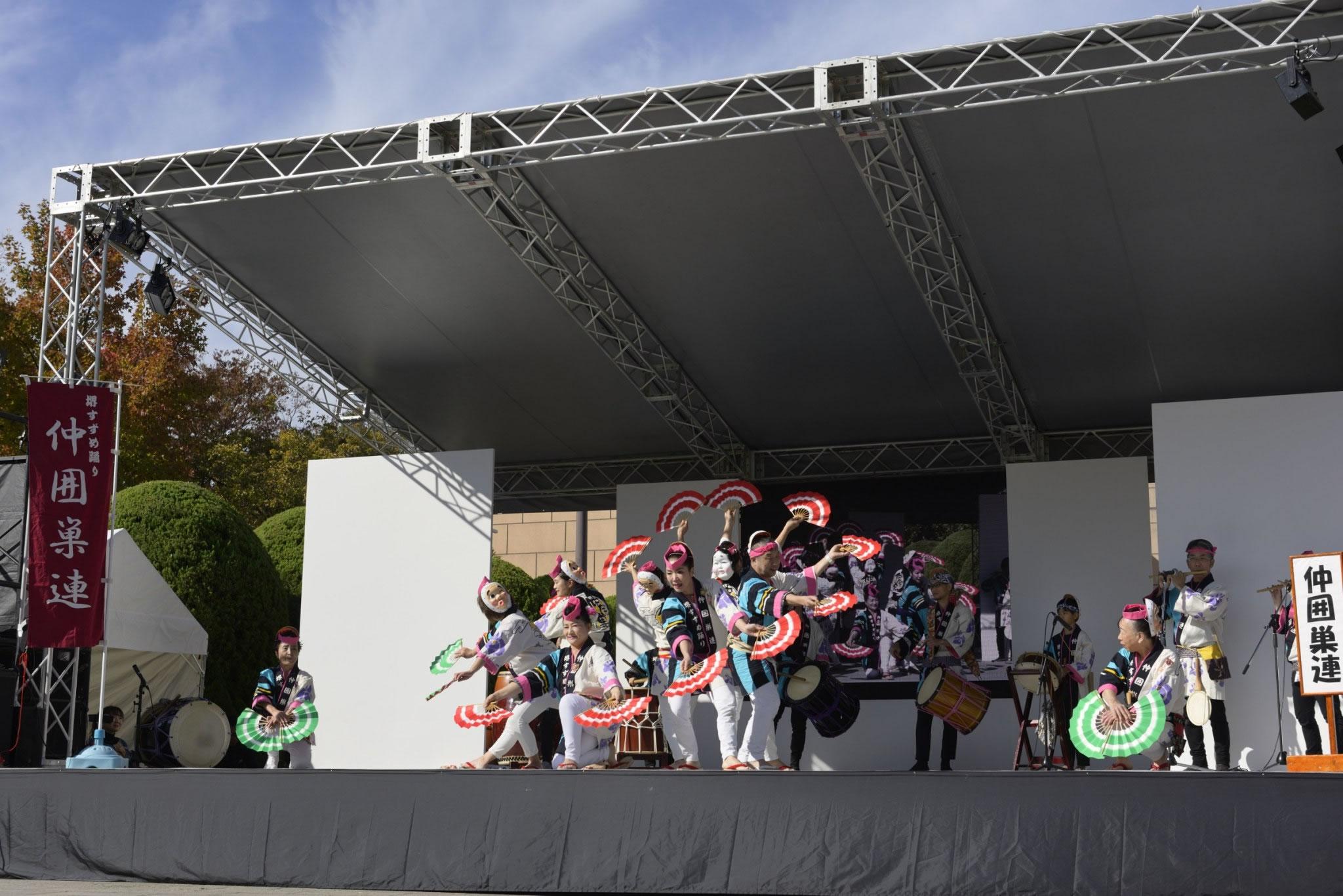 OSEAL2019 ハノーバー庭園にてすずめ踊り演舞24