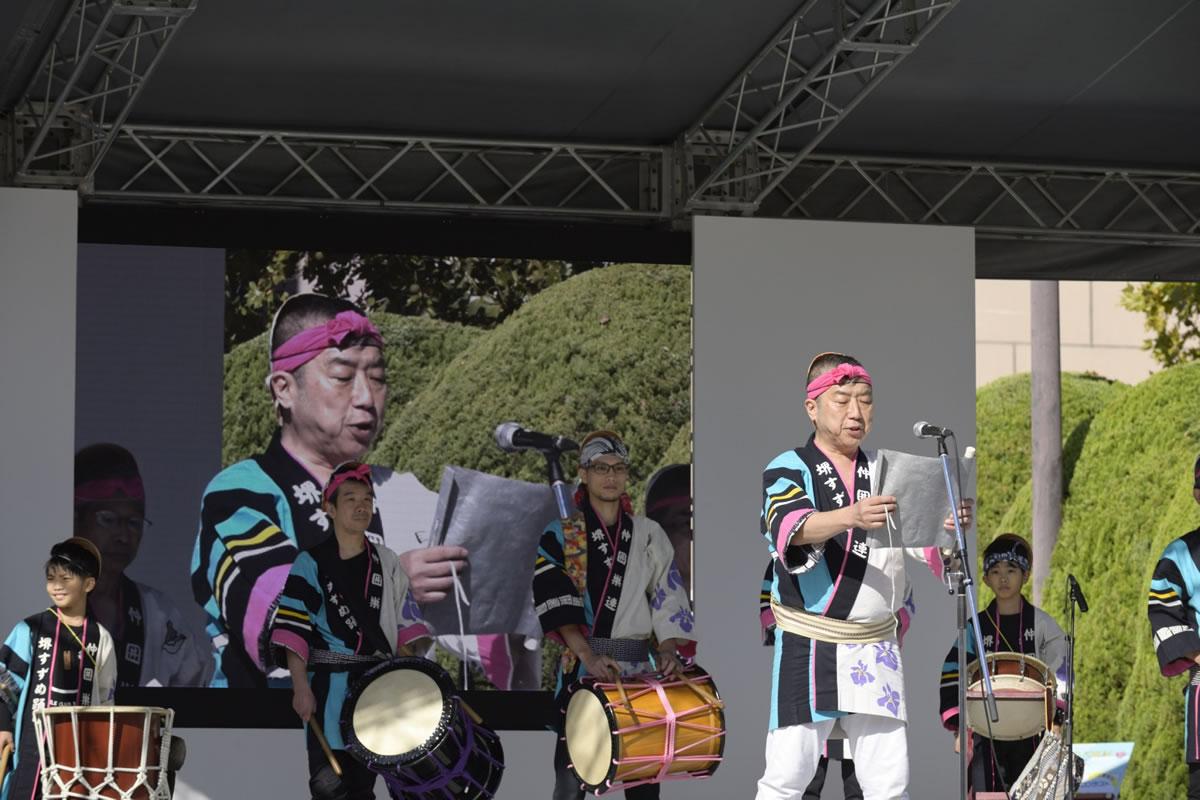 OSEAL2019 ハノーバー庭園にてすずめ踊り演舞7