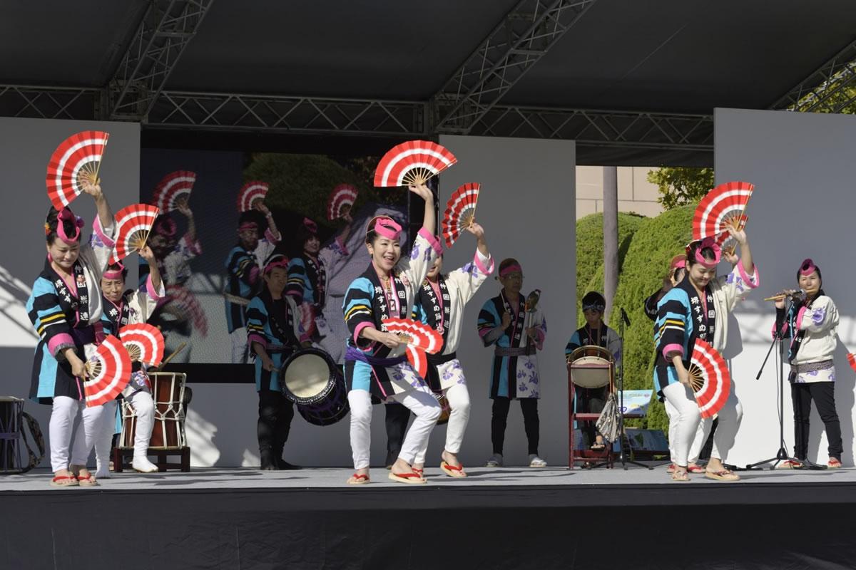 OSEAL2019 ハノーバー庭園にてすずめ踊り演舞8
