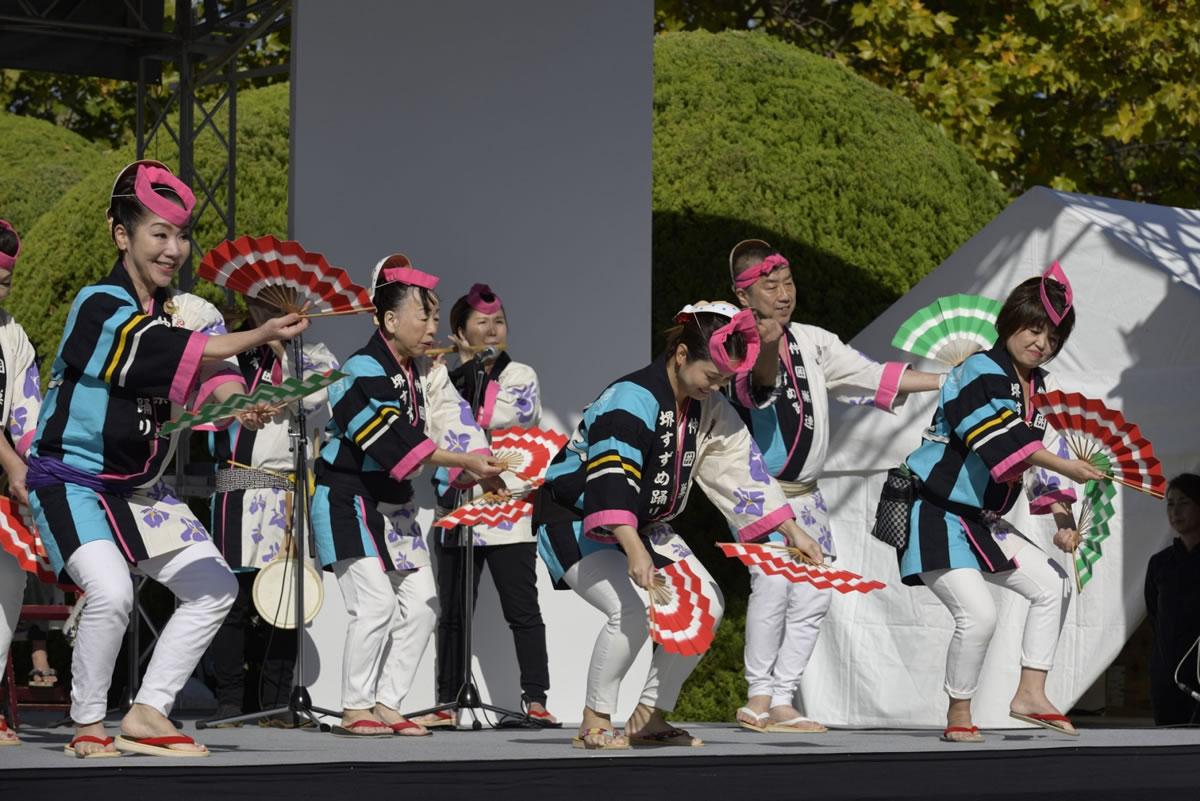OSEAL2019 ハノーバー庭園にてすずめ踊り演舞9