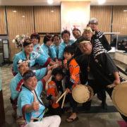 大阪ベイプラザホテルでのすずめ踊りの演舞
