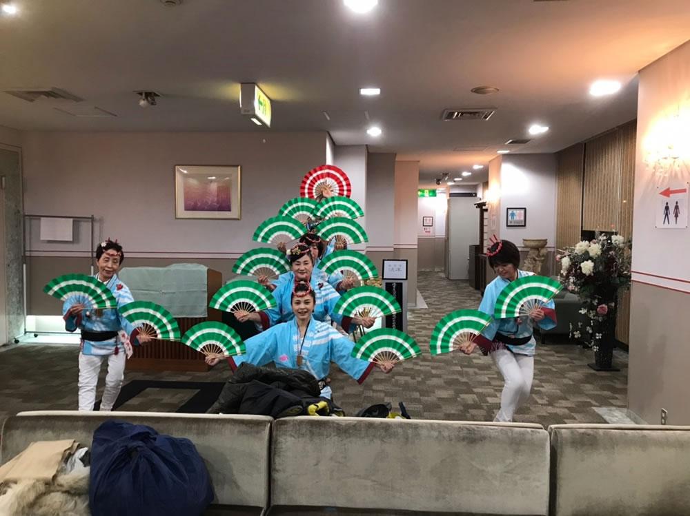 大阪ベイプラザホテルでの演舞2