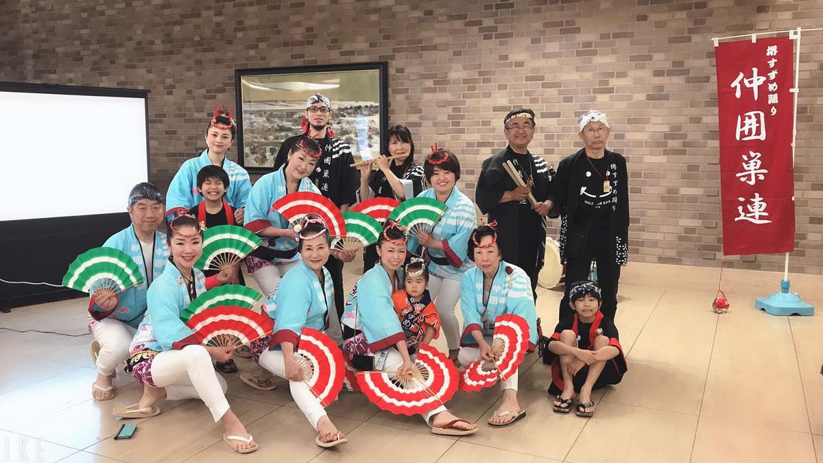 済生会・中津病院にてすずめ踊り演舞