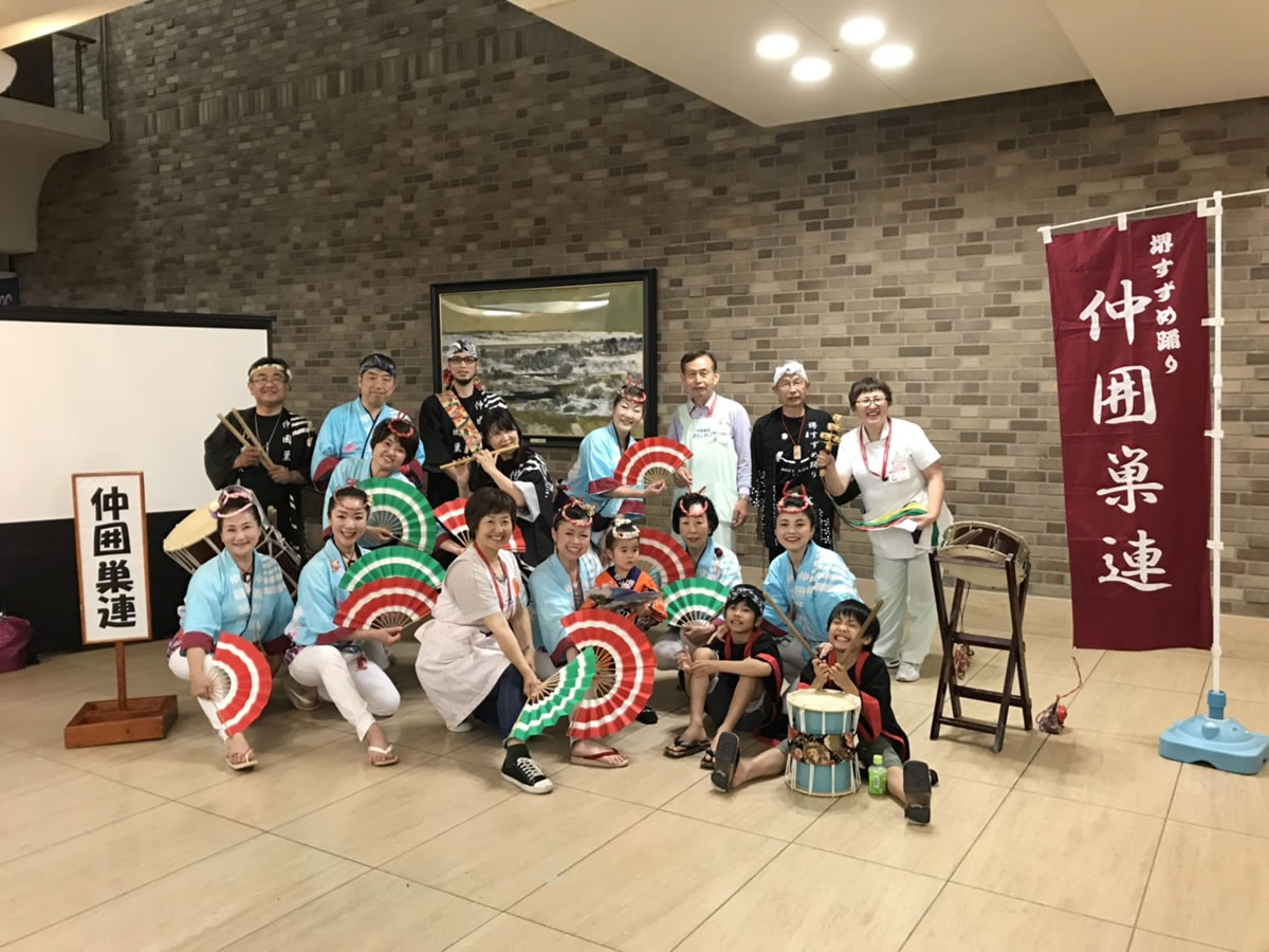 済生会・中津病院にてすずめ踊り演舞6